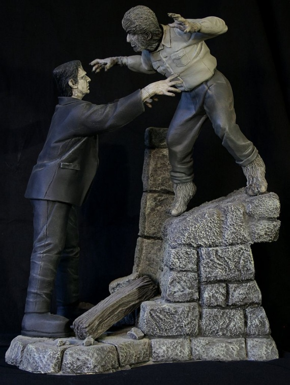 Frankenstein Meets Wolf Man